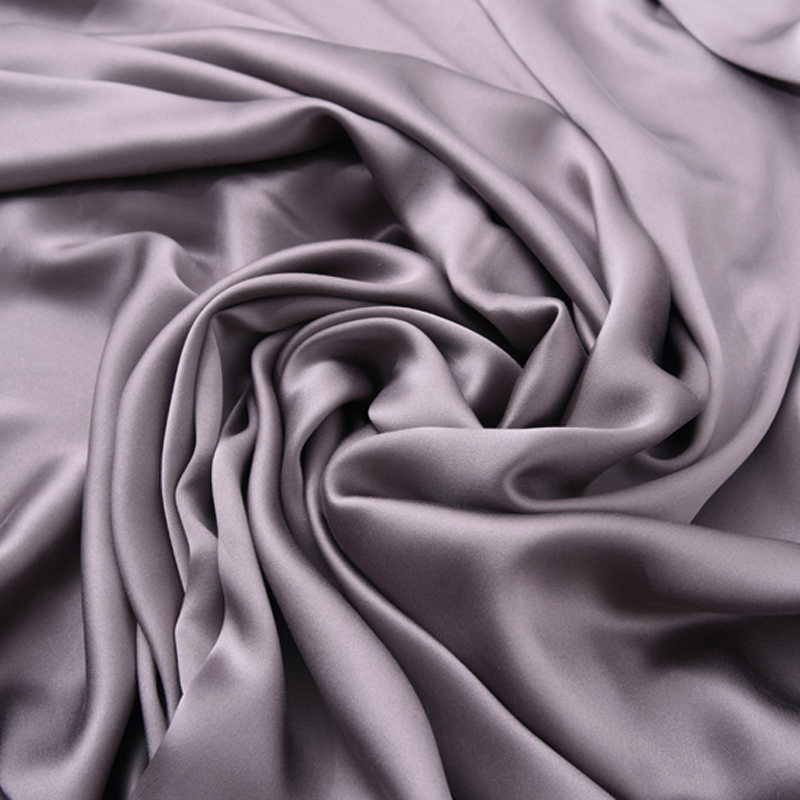 140CM Wide 19MM Gray Solid Color 90% Silk 10% Lycra Stretch Silk Satin Fabric for Dress Cheongsam Pant Shirt H297140CM Wide 19MM Gray Solid Color 90% Silk 10% Lycra Stretch Silk Satin Fabric for Dress Cheongsam Pant Shirt H297