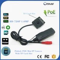 720 P HD Pin gat POE IP Camera Sd-kaart Opnemen Beveiliging CCTV Surveillance Camera Ondersteuning Onvif P2P & PC Browser Telefoon Horloge