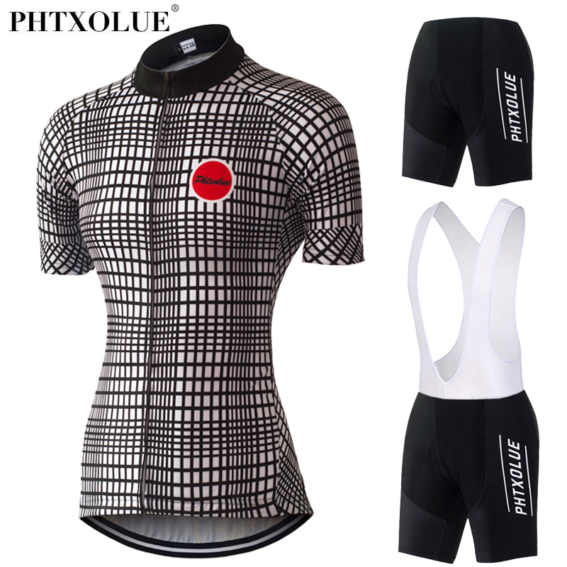 Phtxolue 2019 Team Cycling Clothing Women Black White Mtb Mountain Bike Bicycle Clothes Cycling Jersey Set Wear Ropa CiclismoPhtxolue 2019 Team Cycling Clothing Women Black White Mtb Mountain Bike Bicycle Clothes Cycling Jersey Set Wear Ropa Ciclismo