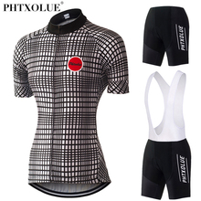 Phtxolue 2017 Team Cycling Clothing Women Black White Mtb Mountain Bike Bicycle Clothes Jersey Set Wear Ropa Ciclismo