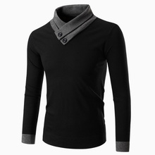 Korean men's fashion sweater, non mainstream male personality color sweater