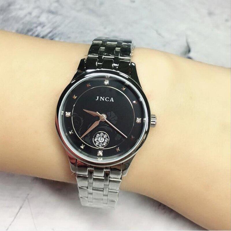 Пара часов для мужчин чехол из нержавеющей стали Спорт Простой кварцевые наручные часы Топ Роскошные женщины часы в спортивном стиле в дело...