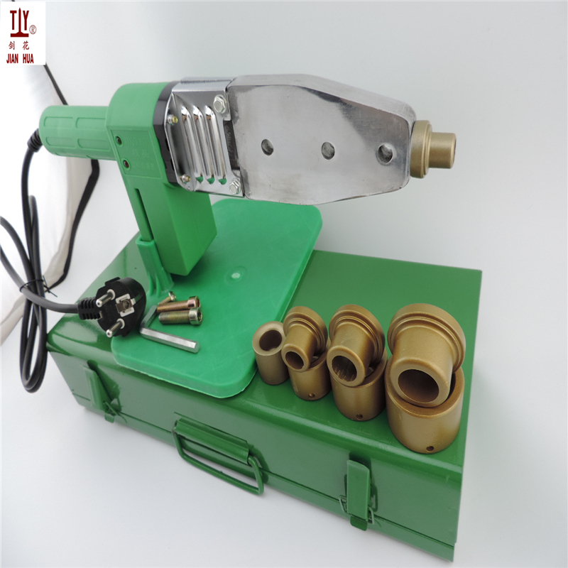 Tools : Non-stick 4Sets DN16-32mm Heads Heating Element 220V Soldering Iron For Plastic Pipes Automatic PPR Welding Extruder For Plastic