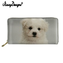 Noisydesigns Bolognese Printed Wallet Women Clutch Leather PU Purse Cartera Mujer Coin Ladies Organizer Card Holders Phone