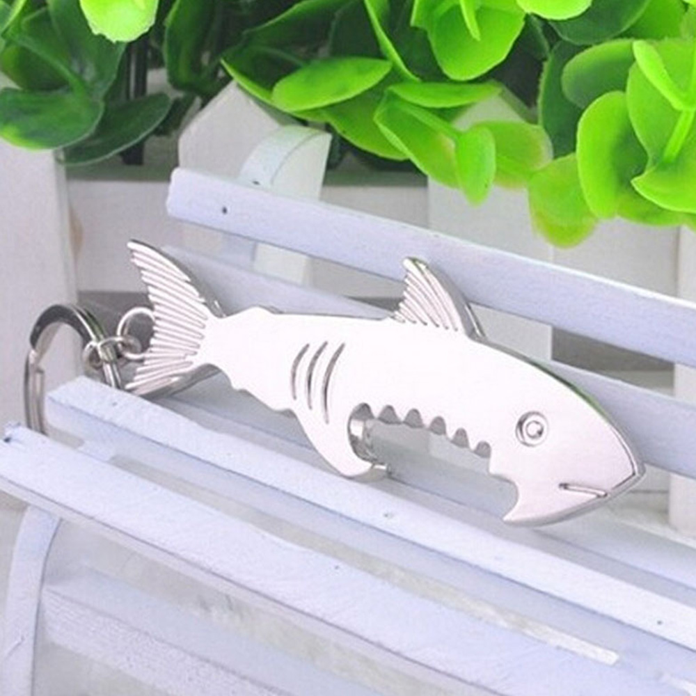 Silver Key Accessories Key Chain Metal Shark Pattern Keychain Car Bag Accessories Key Ring Gift Jewelry in Key Chains from Jewelry Accessories