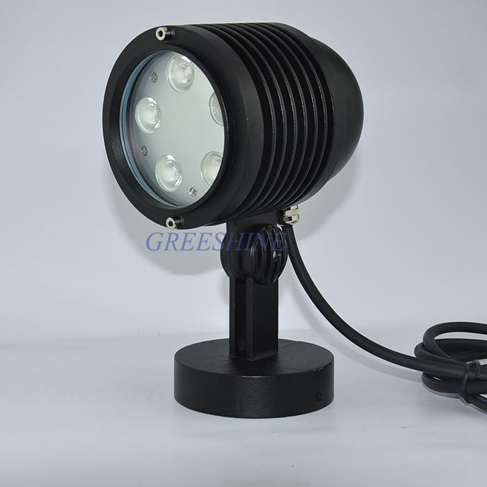Outdoor LED Landscape Light DC24V 15W IP65 Waterproof Spike Spot light Garden LED RGB Tree Light Round /Spike base 4pcs/lot