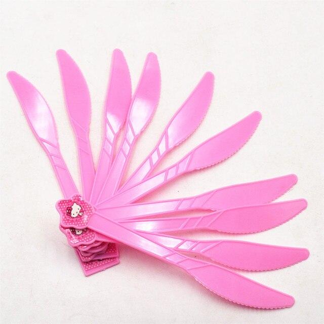 10pcsbag Hello Kitty Plastic Knife BirthdayFestivalChristmas Kids