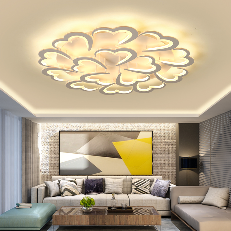 купить Acrylic Modern led ceiling lights for living room bedroom dining room home ceiling lamp lighting light fixtures free shipping по цене 5857.3 рублей