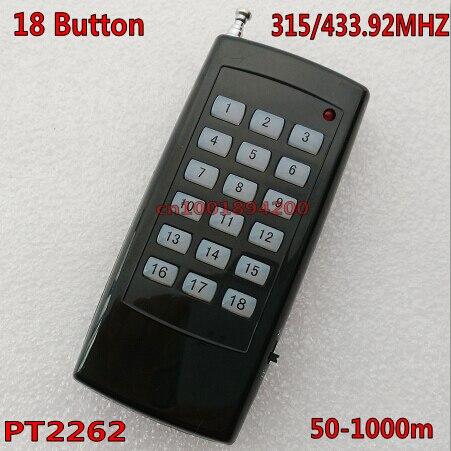 92 Mhz Mit Power Schalter Fernbedienung Batterie Fall Feine Verarbeitung Licht & Beleuchtung 18 Ch Kanal Fernbedienung Sender 18 Schlüssel Pt2262 Rf Fragen Drahtlose Tx 315/433