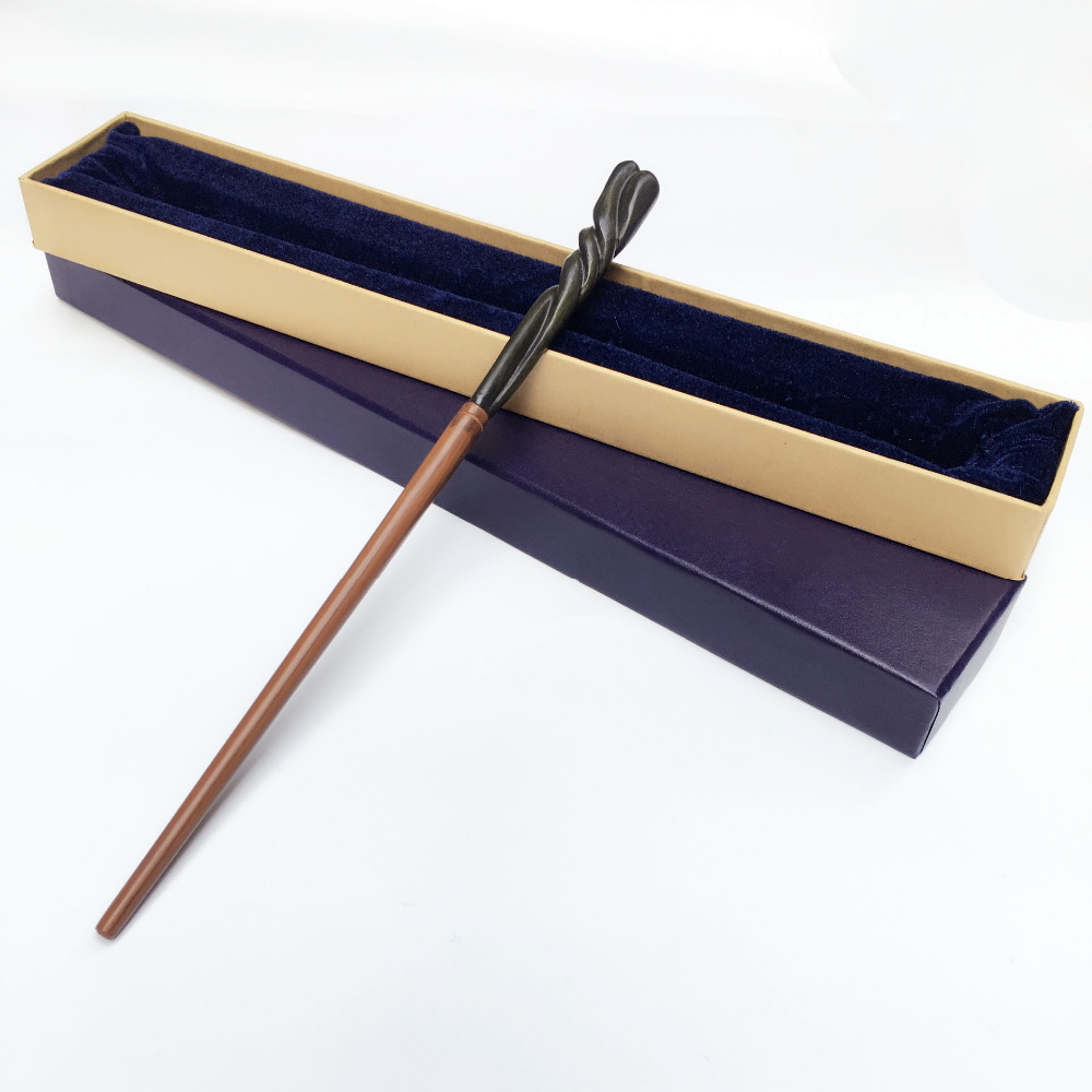 Newest Metal Core Deluxe COS Neville Longbottom Magic Wand/ Harri Magic Magical Wand/ High Quality Gift Box Packing