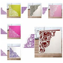 Floral Lace Corner Background Metal Cutting Dies Crafts Card Album Embossing Promotion Stencil Scrapbooking New 2019