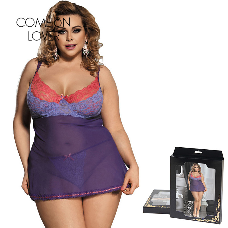 Comeonlover Purple Lace Bielizna Damska Erotyczna Plus Size Womens Lingerie And Exotic Underwear Picardias Sexi Mujer RI80297