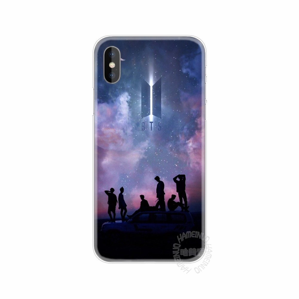 HAMEINUO BTS Bangtan Boys Coque NEW LOGO cell phone Cover case for iphone 8 7 6 6S 4 4s 5 5s SE 5c plus case for iphone X 10