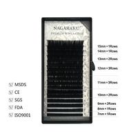 Free Shipping 4 Cases Set Mink Eyelash Extension D Curl 0 10mmThickness 9 12mm MIX