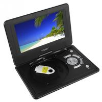 9.8 inch Portable DVD Player 270 Degree Swivel LCD Screen Rechargeable Car TV DVD Intelligent power off memory Multi Language