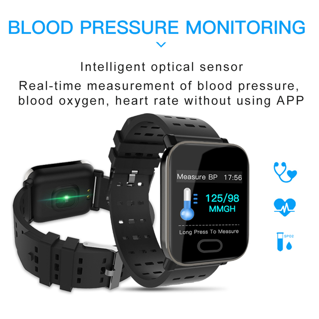 Lerbyee A6 Smart Watch Heart Rate Monitor Sport Fitness Tracker Sleep Monitor Waterproof Sport Watch Band for IOS Android Gifts