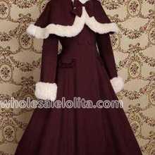 Лидер продаж Бургундия шерсть Япония теплые зимние сладкие Лолита платье зимние пальто все размеры для продажи
