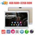 "Envío Libre 10 pulgadas 3G 4G LTE Tablet PC Octa Core 4 GB de RAM 64 GB ROM 8.0MP WiFi GPS del Androide 6.0 1920*1200 IPS Tablet PC 10.1"""