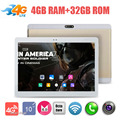 O Envio gratuito de 10 polegada 3G 4G LTE Tablet PC Octa Núcleo 4 GB de RAM 64 GB ROM 8.0MP WiFi Android 6.0 GPS 1920*1200 IPS Tablet PC 10.1""