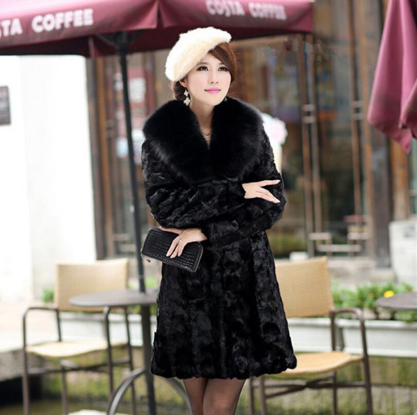 De Femmes Pardessus 4xl Manteau Veste Manches Longues Nouvelle Plus Black La Hiver Fourrure Noir A671 S Taille Costumize Long À Faux Fxv5x0qT