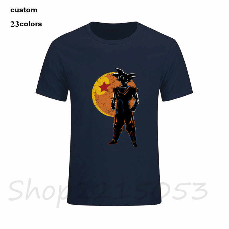 2018 Guerreiro japonês kanji 1 estrela T-Shirt Dos Homens do logotipo jogo traje roupas roupas harajuku bola dragão dragonball Z masculino t camisa