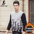 Pioneer Camp New  autumn winter hoodies men brand clothing warm fleece male sweatshirts casual printed hoodies for men 622178