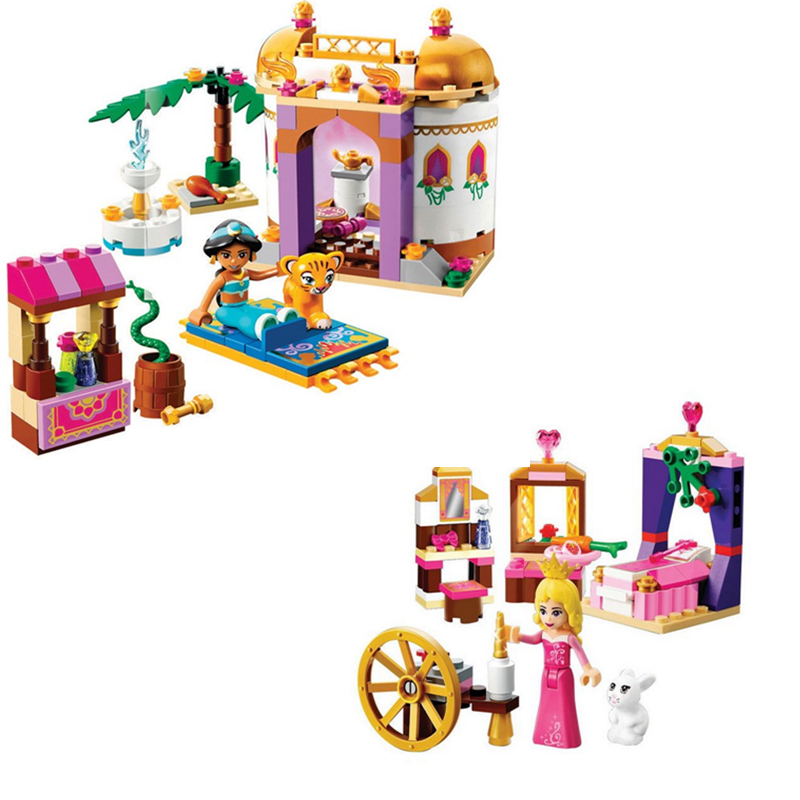 Bela Dream Sleeping Girl Aladdin Princess Jasmine Bricks Building Block girls Toys compatiable with lego friends kid gift set new bela friends series girls princess jasmine exotic palacepanorama minifigures building blocks girl toys