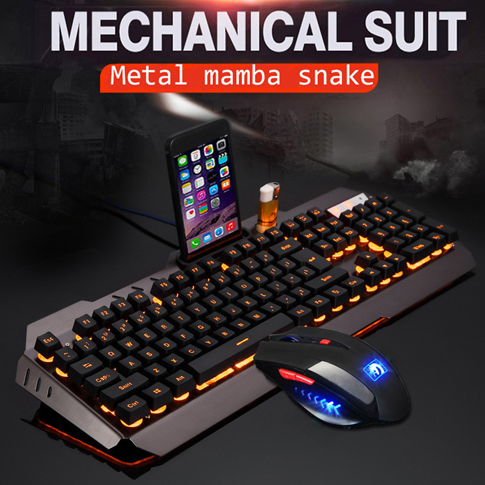 ZELOTES professionnel Ultra-mince mode M938 LED rétro-éclairé Usb ergonomique clavier de jeu + souris Gamer ensembles + tapis de souris YE2.22