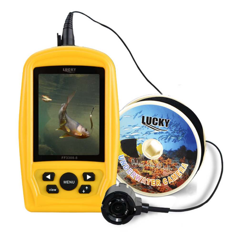 LUCKY FF3308-8 Portable Underwater Camera Fishing Inspection System CMD Sensor 3.5 inch TFT RGB Waterproof Monitor 20M Cable цена 2017