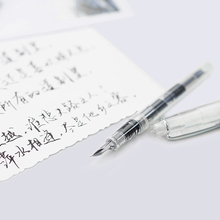 2019 Simple Transparent Pen 0.5mm Curved Nib Fountain Pen Ink Pens Cute Calligraphy Pen for Office School Writing Stationery luxury picasso ink pen color pen practice calligraphy fine nib without pencil box office stationery writing metal fountain pen