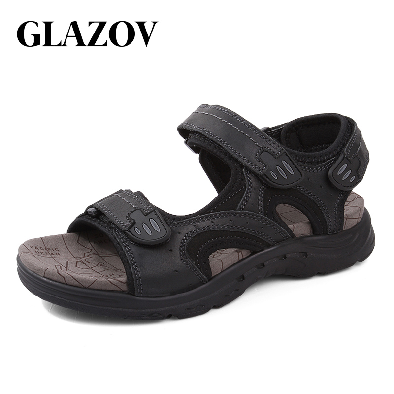 GLAZOV Outdoor Fashion Men Sandals Summer Men Shoes Casual Shoes Breathable Beach Sandals Sapatos Masculinos Plus Size 38-47