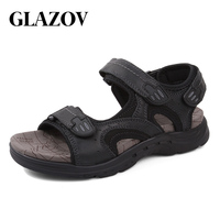 GLAZOV Outdoor Fashion Men Sandals Summer Men Shoes Casual Shoes Breathable Beach Sandals Sapatos Masculinos Plus Size 38 47
