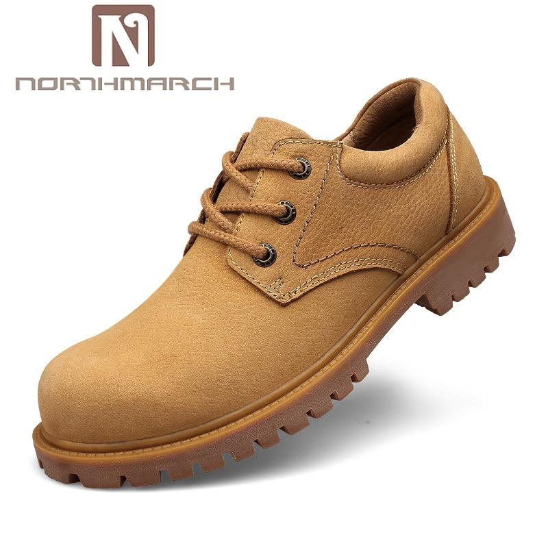 цена на NORTHMARCH Brand Men Shoes Spring Autumn New Fashion Men Shoes Genuine Leather Men Casual Shoes Comfortable Male Walking Shoe