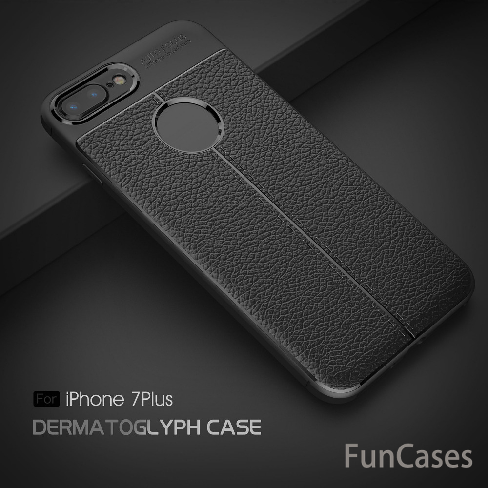 Luxury Brand Original Carbon Fiber Cover For iPhone 7 Plus Case TPU Silicone Coque For i ...