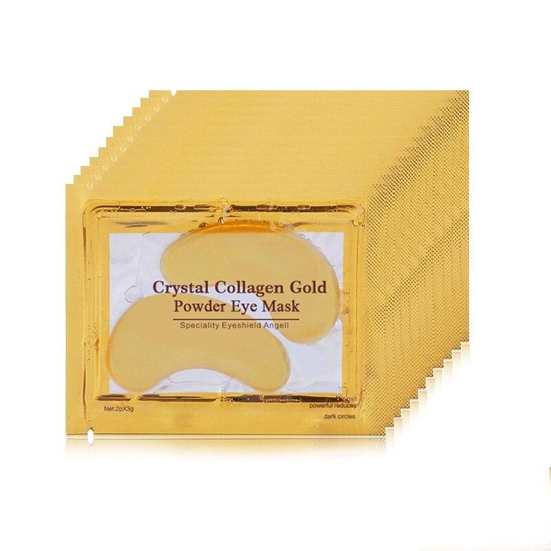 10Pairs Eye Mask Gold Crystal collagen Eye Masks Anti-Puffiness Dark Circles Anti Aging Moisturizing Eye Care