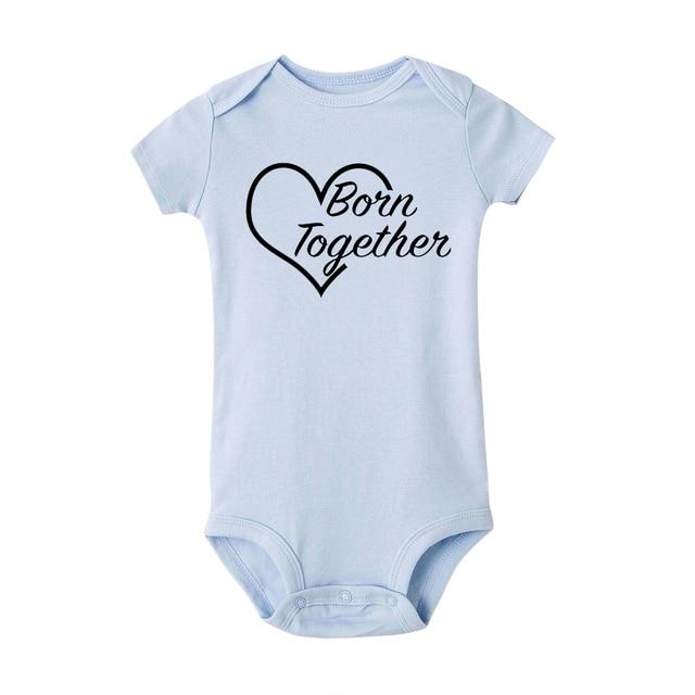 Cute Twin Baby Bodysuit...