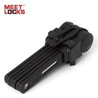 Meetlocks للطي دراجة قفل قوي جدا تتصلب عظم الصلب سبيكة معدنية مع البلاستيك طلاء 69 سنتيمتر الطول الصلب دراجة قفل