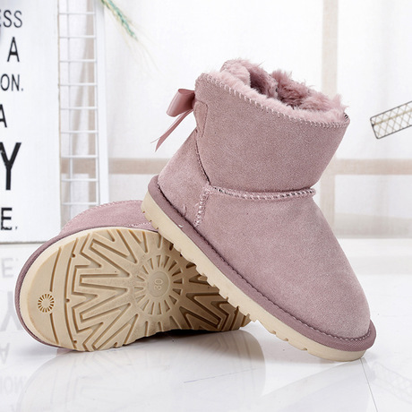 Boots 100% True Kids Shoes Kids Winter Boots Winter Boots For Girls Snow Boots Warm Quality Laarzen Meisjes Kinder Laarze Chaussures Fille Hiver Children's Shoes