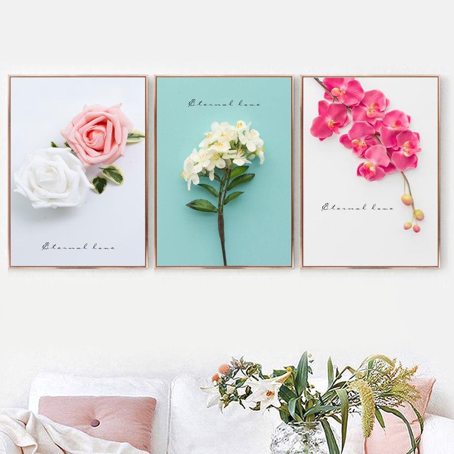 Canvas Print Flowers Landscape Making Wall Art Botanical Home Decor Pictures