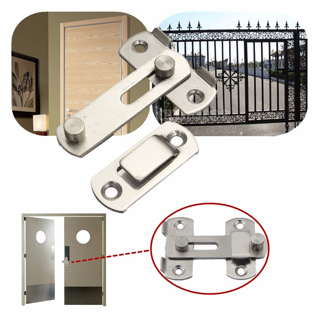 Silver Useful New Arrival Practical 20x50x70mm Home Gate Safety Security Door Guard Stainless Steel Bolt Slide Lock Hot Sale