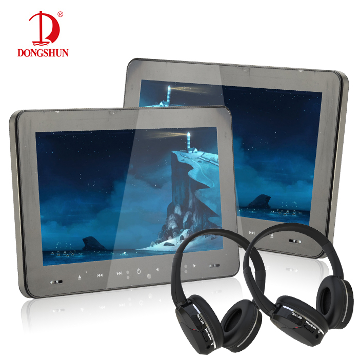 ФОТО 1 pair Funny Detachable Car Rerseat Headrest DVD Player With remote control game