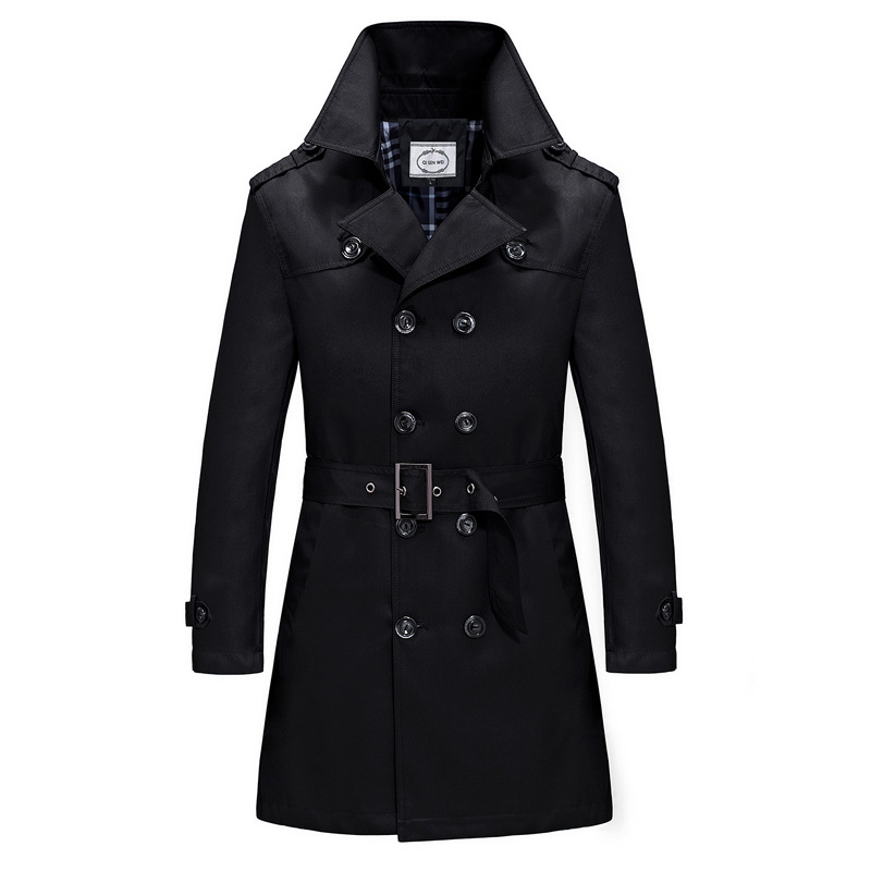 5XL Men 39 s Parkas Long Trench Coats Spring Men Business jackets Male manteau homme mens slim overcoat Windbreaker h109 in Trench from Men 39 s Clothing