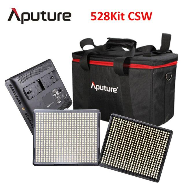 aputure 528kitcsw led video light dslr camera light led photography light led light panel