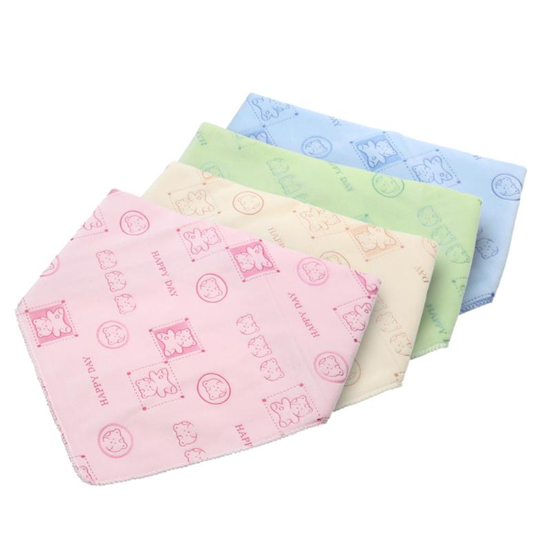 Cartoon Baby Kids Bibs Burp Cloths Cute Bear Print Newborn Baby Boys Girls Saliva Towel  ...
