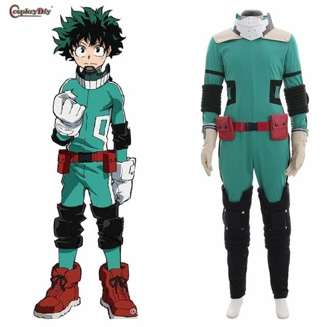 Boku no Hero Akademia Cosplay My Hero Academia Izuku Midoriya disfraz Deku  batalla Halloween carnaval ropa c7b266f852d1