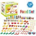 120 шт./набор, детские пластиковые игрушки для кухни