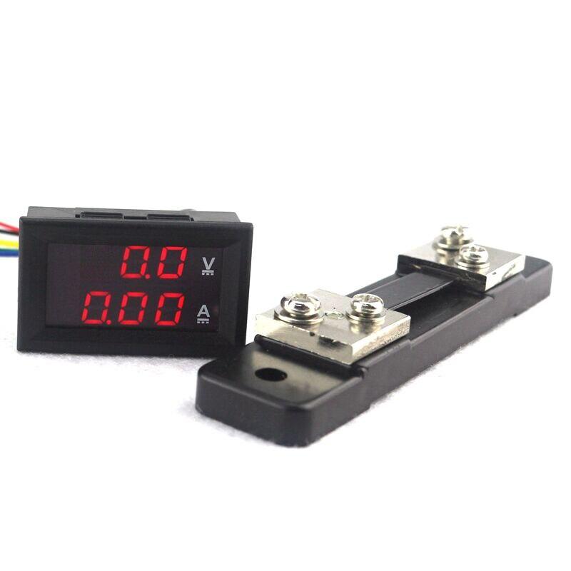 Dc 4.5-30v 0-50a Dual Red Led Digital Volt Meter Voltage Am Meter Electronic Components & Supplies 50a 75mv Current Shunt Resistor For Amp Ammeter Panel Fl-2