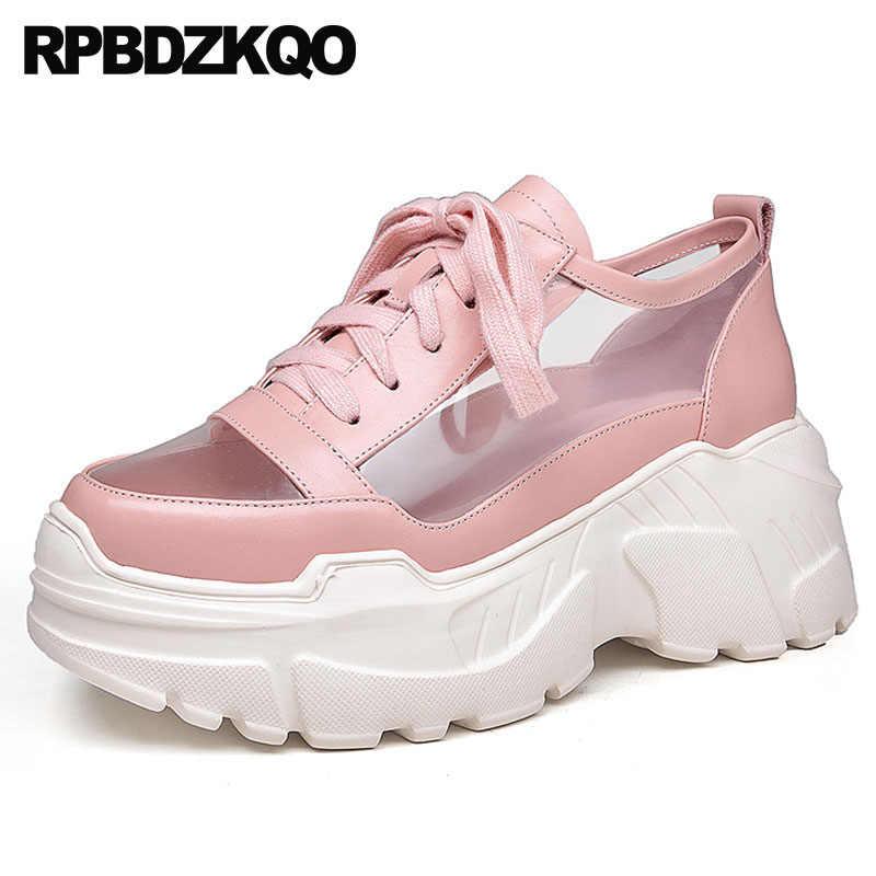 Pvc 2018 High Heel Sneakers Women Wedge