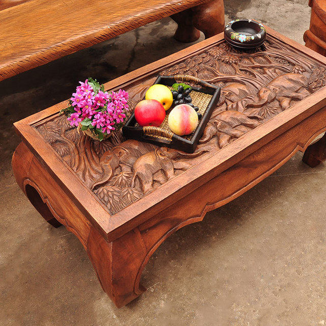 Thailand, Southeast Asia Art Crafts Furniture Furniture Tables And Chairs Carved  Coffee Table 102173