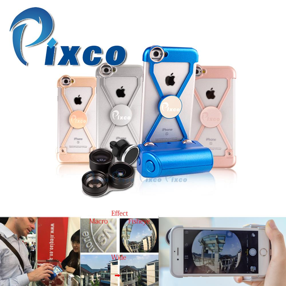 Pixco camera lens Kit iP.hone case Selfie Stick wide angle lens+Fisheye+Macro Lens Handheld Stable iP.hone Remote Shutte for i6s